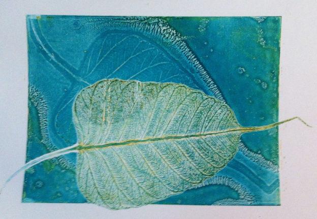 print from skeleton leaf