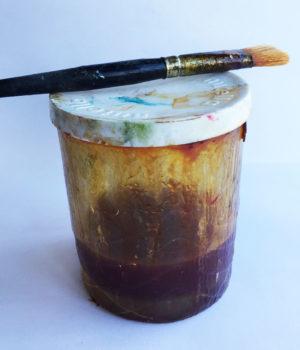 shellac in a nutella jar