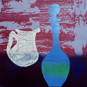 Distillation II, etched lino print