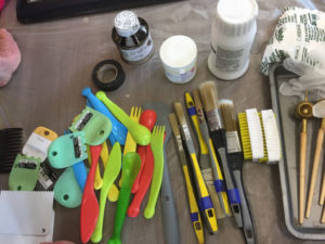 synthetic tools and brushes