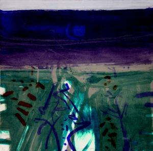 Barbara Rae, Vacluse Night, carborundum print