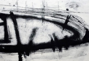 Dawn Brooks, Memorial II, carborundum print