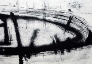 Dawn Brooks, Memorial II, carborundum print