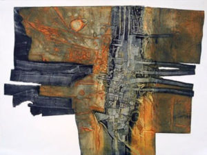 Peter Wray, Fired Earth II, carborundum print