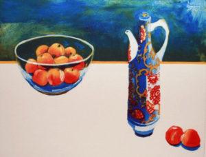 Ruth O'Donnell, Peach Bowl, carborundum print
