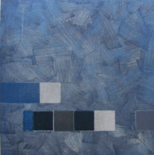 Felim Egan, Blue March, carborundum print