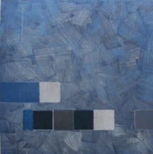 Felim Egan, Blue March, carborundum print