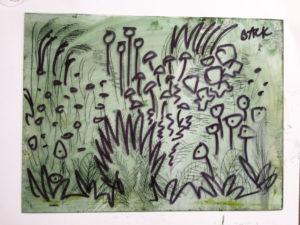 master sketch on acetate