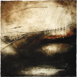 Ross Loveday, Burnt Fen, carborundum print