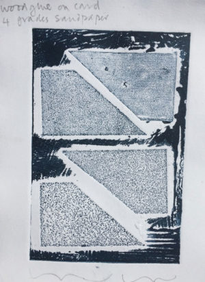 sandpapers printed in relief