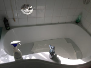 Soaking printing paper in the bath