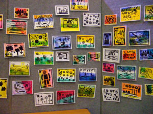 Exhibition of postcards