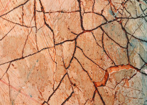Detail of crackle texture collagraph plate