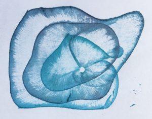 String print wavy spiral
