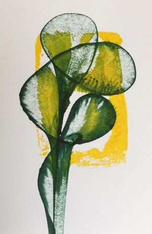 String print with yellow background