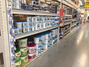 The Tile Cement aisle
