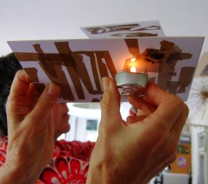 Using a flame on a printing plate