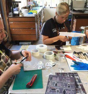 Constructing printing plates