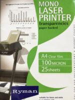 Laser printer transparencies