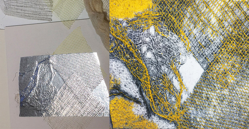 fabric plate with aluminium tape