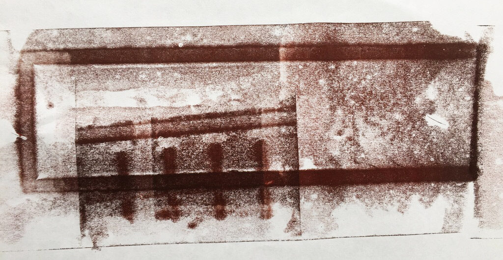 A mysterious print from.... a brick