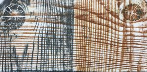 A double wood grain print