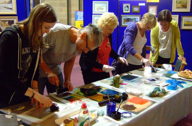 Community printmaking workshop
