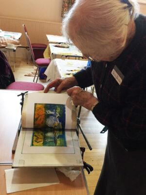Using the portable printing press
