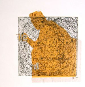 Artists' prints with chine collee Alice Sheridan