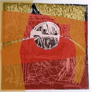 Artists' prints with chine collee Pam Wright