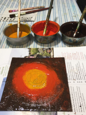 Inking a collagraph plate as intaglio
