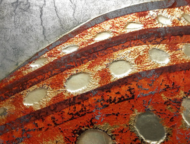 Aluminium tape plate by Kate Tidmarsh