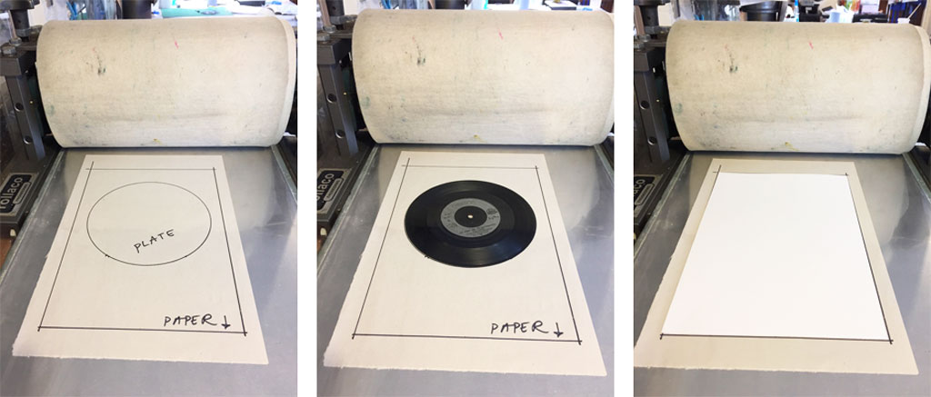 a registration sheet for printing a vinyl record