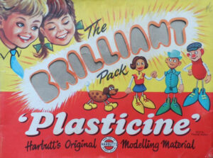 vintage plasticine packaging